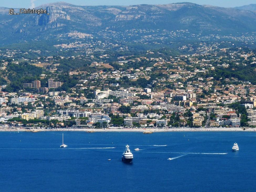 Côte d'Azur vue du ciel