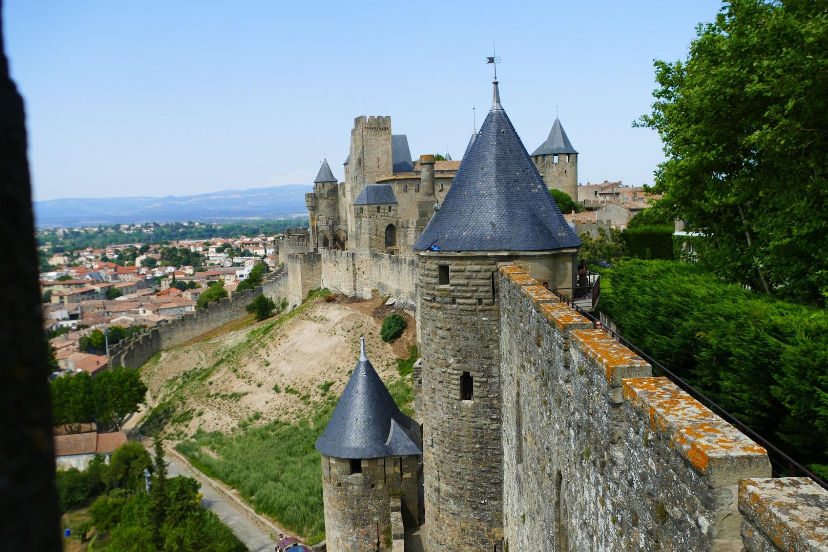 Cité de Carcassonne - sur les remparts